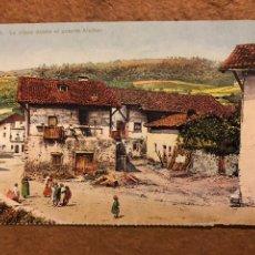 Cartoline: CEANURI, LA PLAZA SOBRE EL PUENTE ALCIBAR. POSTAL SIN CIRCULAR COLECCIÓN DEIA BBK N° 30.. Lote 189224662