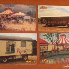 Postales: LOTE 4 POSTALES CIRCO RALUY. Lote 189238442