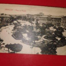 Postales: PLAZA ARAGON ZARAGOZA M. ARRIVAS ESPOZ Y MINA 22-ZARAGOZA. Lote 189310967
