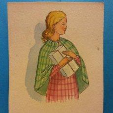 Cartoline: DAMA CON UN REGALO. SIN USAR. Lote 189312476