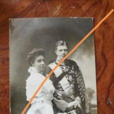 Postales: ANTIGUA POSTAL. FERNANDO DE BAVIERA Y TERESA DE BORBÓN. FRANZEN.. Lote 137513370