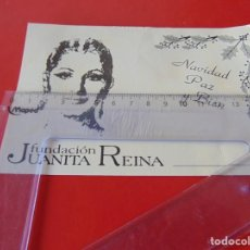 Postales: TARJETA POSTAL FUNDACION JUANITA REINA NAVIDAD PAZ Y BIEN FELIZ AÑO NUEVO. Lote 190196788