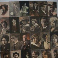 Postales: 24 POSTALES ANTIGUAS DE ARTISTAS CINEMATOGRAFICOS. Lote 190213102