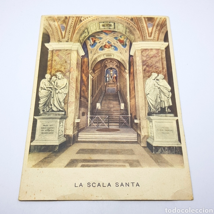 (CEP.04) TARJETA POSTAL CIRCULADA. ROMA. LA SCALA SANTA (Postales - Varios)