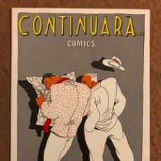 Postales: CONTINUARÁ... CÓMICS (BARCELONA). TARJETA PUBLICITARIA DE LA TIENDA (AÑOS 80).. Lote 190884603
