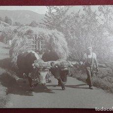 Postales: FOTOGRAFIA POSTAL... OFICIOS DE AYER Y HOY... ACARREO DE LA MIES.1988. Lote 191121446