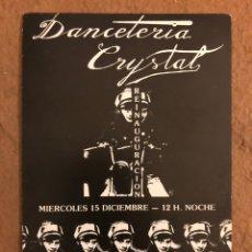 Postales: DANCETERIA CRYSTAL (BILBAO). POSTAL INVITACIÓN SIN CIRCULAR DE LOS AÑOS 80.. Lote 191123702