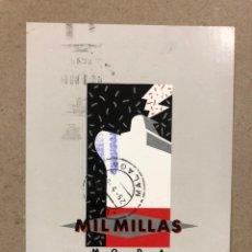 Postales: MIL MILLAS MODA DISEÑO (MÁLAGA). POSTAL PUBLICITARIA CIRCULADA EN 1988.. Lote 191318771
