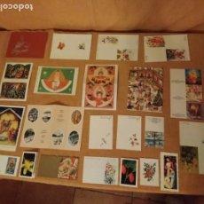Postales: LOTE DE 22 MINI POSTALES PARA NOMBRAR REGALOS.. Lote 193429630