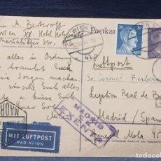 Postales: TARJETA POSTAL TELEGRAMA VIENA A MADRID LEGACION REAL DE BULGARIA 1944 DIMITER BERKEROFF. Lote 193984195