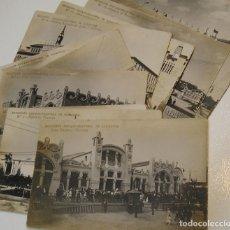 Postales: LOTE POSTALES EXPOSICIÓN HISPANO-FRANCESA DE ZARAGOZA COYNE FOTO Nº 1,2,3,5,6,7,8,10,17,23,25,CASINO. Lote 194251812
