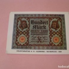 Postales: POSTAL COLECTARJETAS A 15. ALEMANIA. 100 MARCOS. 1920. ED. EUROHOBBY.. Lote 194340271