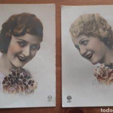 Postales: LOTE 2 ANTIGUAS POSTALES FOTOGRÁFICAS DAMAS AÑOS 30 A. NOYER 3447 Y 3521. Lote 194388685