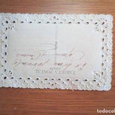 Postales: ANTIGUA POSTAL 1900, MUY RARA. ÚNICA EN TC. Lote 194506737