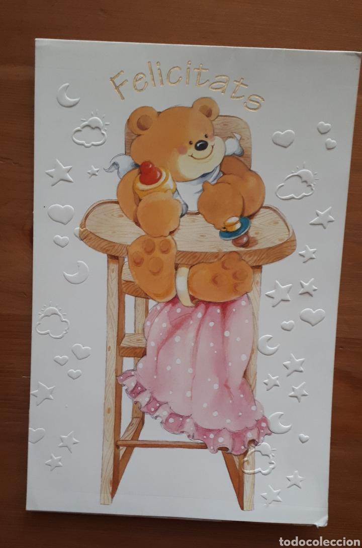 Postales: Lote 4 postales felicitación oso relieves, animales botes pintura, día de la madre, Im so blue - Foto 2 - 194536313