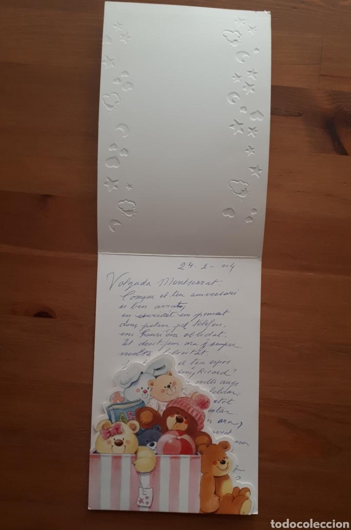 Postales: Lote 4 postales felicitación oso relieves, animales botes pintura, día de la madre, Im so blue - Foto 3 - 194536313