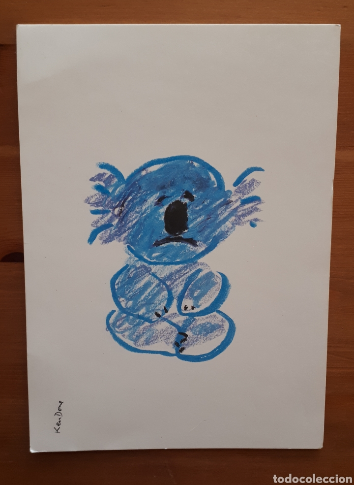 Postales: Lote 4 postales felicitación oso relieves, animales botes pintura, día de la madre, Im so blue - Foto 4 - 194536313