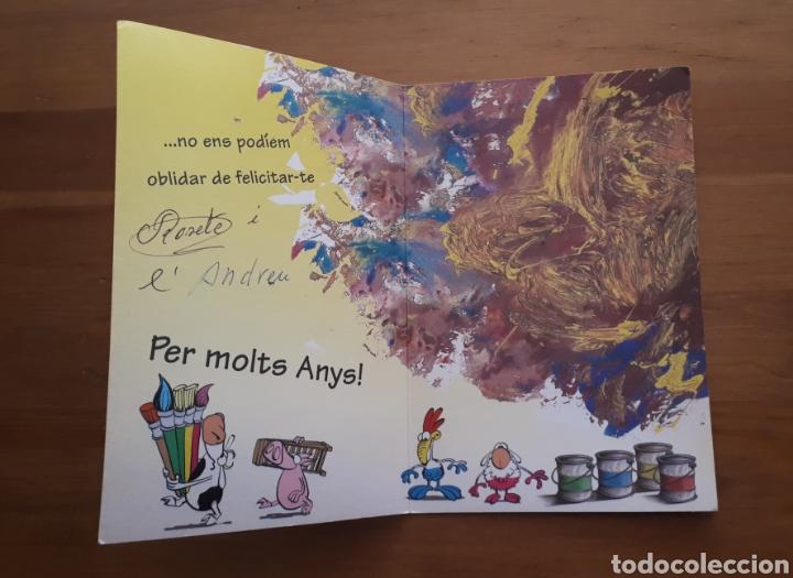 Postales: Lote 4 postales felicitación oso relieves, animales botes pintura, día de la madre, Im so blue - Foto 7 - 194536313