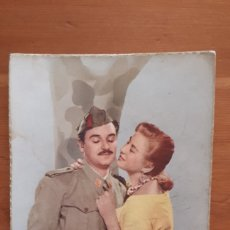 Postales: ANTIGUA POSTAL PAREJA ROMÁNTICA SOLDADO. Lote 194537346