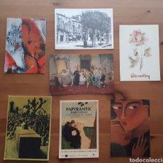 Postales: LOTE 7 POSTALES EXPOSICIONES ARTE. Lote 194552057
