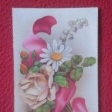 Postales: ANTIGUA POSTAL POST CARD C. Y Z. CREO AÑOS 1950 1960 APROX. ?? FLORES FLOWERS VER FOTOS.............. Lote 194553231