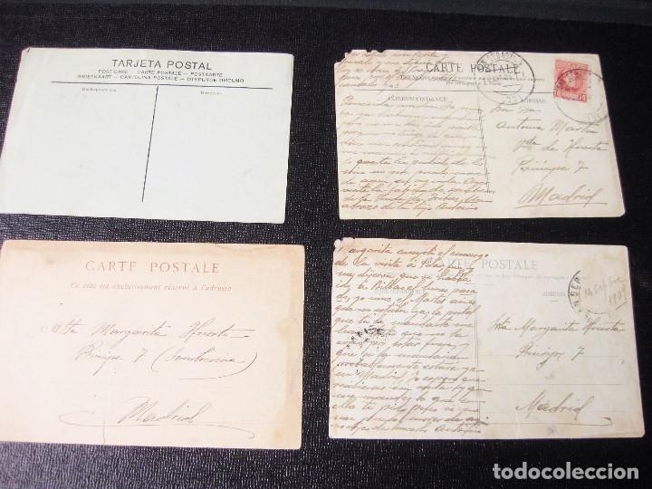 COLECCIÓN DE 12 TRASERAS DE POSTALES. UNA CON MATASELLOS SAN SEBASTIÁN 1909. (Postales - Varios)