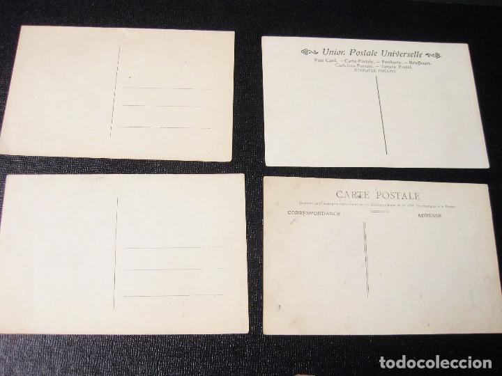 Postales: Colección de 12 traseras de postales. Una con matasellos San Sebastián 1909. - Foto 5 - 194611463