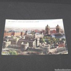 Postales: (CV.07) ANTIGU POSTAL CIRCULADA. LONDON. THE TOWER OF LONDON AND TOWER BRIDGE. Lote 194629506
