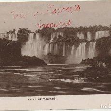 Postales: ARGENTINA. FOTO-POSTAL, FALLS OF Y-GUAZÚ (CATARATAS DE YGUAZÚ) FRANQUEADO Y FECHADO EN 191?. Lote 194681453