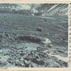 Postales: ARGENTINA. POSTAL. PUENTE DEL INCA, EL BORBOLLÓN DE AGUA CALIENTE. FRANQUEADO Y FECHADO EL 8-MARZO-1. Lote 194681457