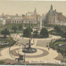 Postales: ARGENTINA. POSTAL. BUENOS AIRES, PLAZA DE MAYO. FRANQUEADA Y FECHADA EL 14-JUNIO-1913. Lote 194681460