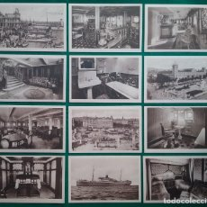 Postales: COMPAÑÍA TRASMEDITERRÁNEA VAPOR TEIDE POSTAL COLECCION COMPLETA LÍNEA FERNANDO PÓO . Lote 194695686