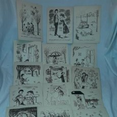 Postales: 15 POSTALES DE FELICITACIÓN DÍPTICO AÑOS 60/70. Lote 194870928