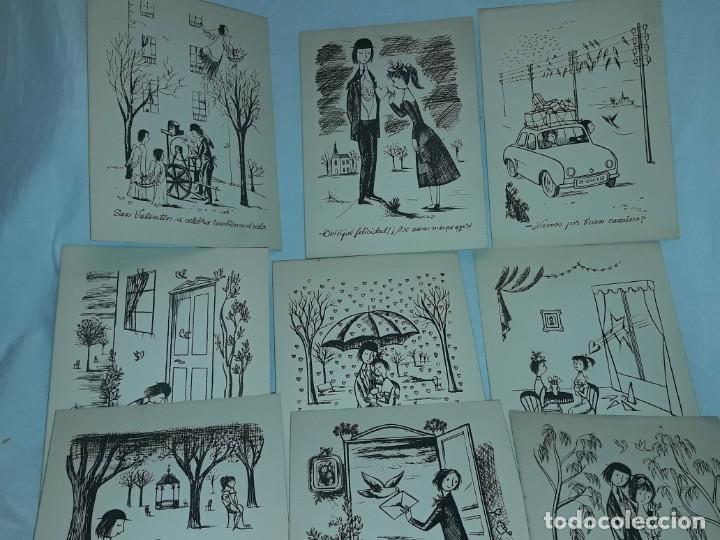 Postales: 15 Postales de felicitación díptico años 60/70 - Foto 3 - 194870928