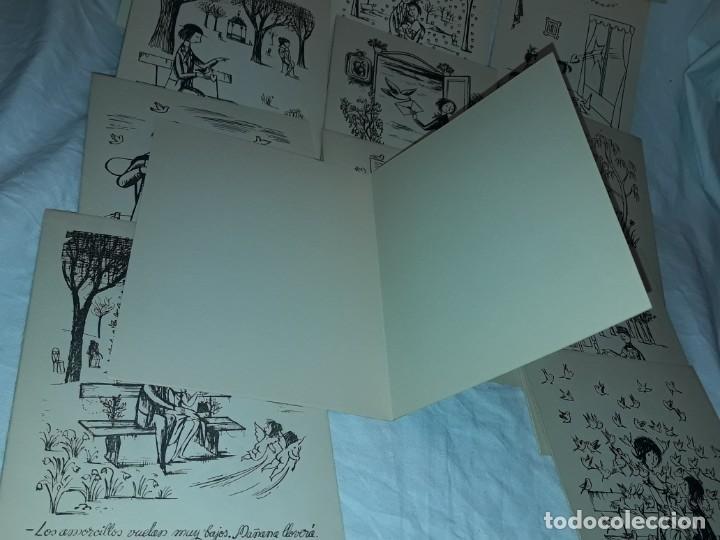Postales: 15 Postales de felicitación díptico años 60/70 - Foto 5 - 194870928