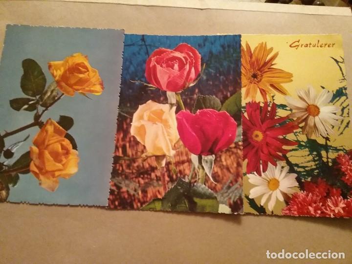 10 POSTALES DE FLORES (Postales - Varios)