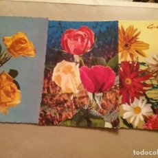 Postales: 10 POSTALES DE FLORES. Lote 194894132