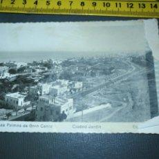 Postales: ANTIGUA POSTAL LAS PALMAS DE GRAN CANARIA ESTROPEADA , EDICIONES ARRIBA 129. Lote 195055430