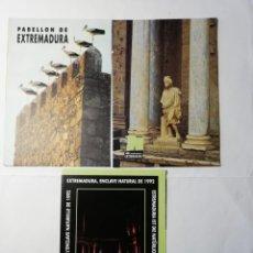 Postales: EXPO 92.-PABELLON DE EXTREMADURA. Lote 195110225
