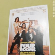 Postales: POSTAL PELÍCULA FOUR ROOMS. Lote 195242715