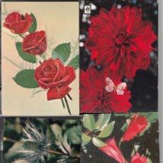Postales: 4 POSTALES DE FLORES DIVERAS. Lote 195309270