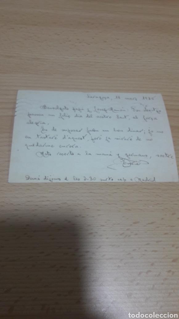Postales: TARJETA POSTAL REPUBLICA 1936-ZARAGOZA A BARCELONA - Foto 2 - 195335692