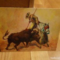 Postales: ANTIGUA POSTAL DE TOROS TAMAÑO GRANDE AÑO1959. Lote 195374742