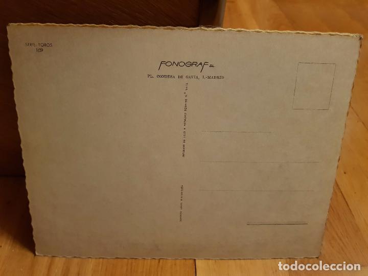 Postales: ANTIGUA POSTAL DE TOROS TAMAÑO GRANDE AÑO1959 - Foto 2 - 195375115