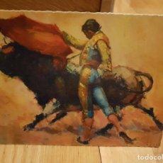Postales: ANTIGUA POSTAL DE TOROS TAMAÑO GRANDE AÑO1959. Lote 195375115