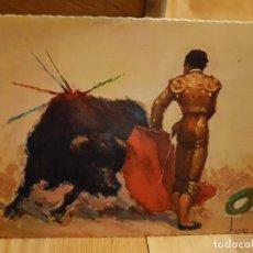 Postales: ANTIGUA POSTAL DE TOROS TAMAÑO GRANDE AÑO1959. Lote 195375286