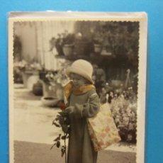 Postales: LA NIÑA. HERMOSA TARJETA. DÍPTICO. COMPLETAMENTE NUEVA. Lote 195473637