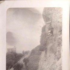 Postales: PAISAJE Y OBSERVADORES DESDE UN MIRADOR. NUEVA. BLANCO/NEGRO. Lote 195532013