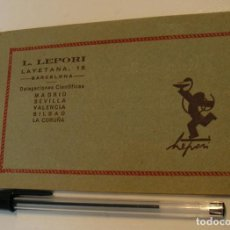 Postales: POSTALES. BLOC POSTAL. GRANADA. 10 VISTAS. L. LEPORI. BARCELONA. AÑOS 50/60 IMPECABLE. Lote 195668265