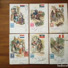 Postales: 23 POSTALES DE CORREOS EN DIFERENTES PAÍSES ( LA POSTE EN...) - CIRCULADA ENTRE 1900 Y 1902. Lote 195932340
